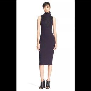 Rag & Bone Rib Knit Sleeveless Turtleneck Dress